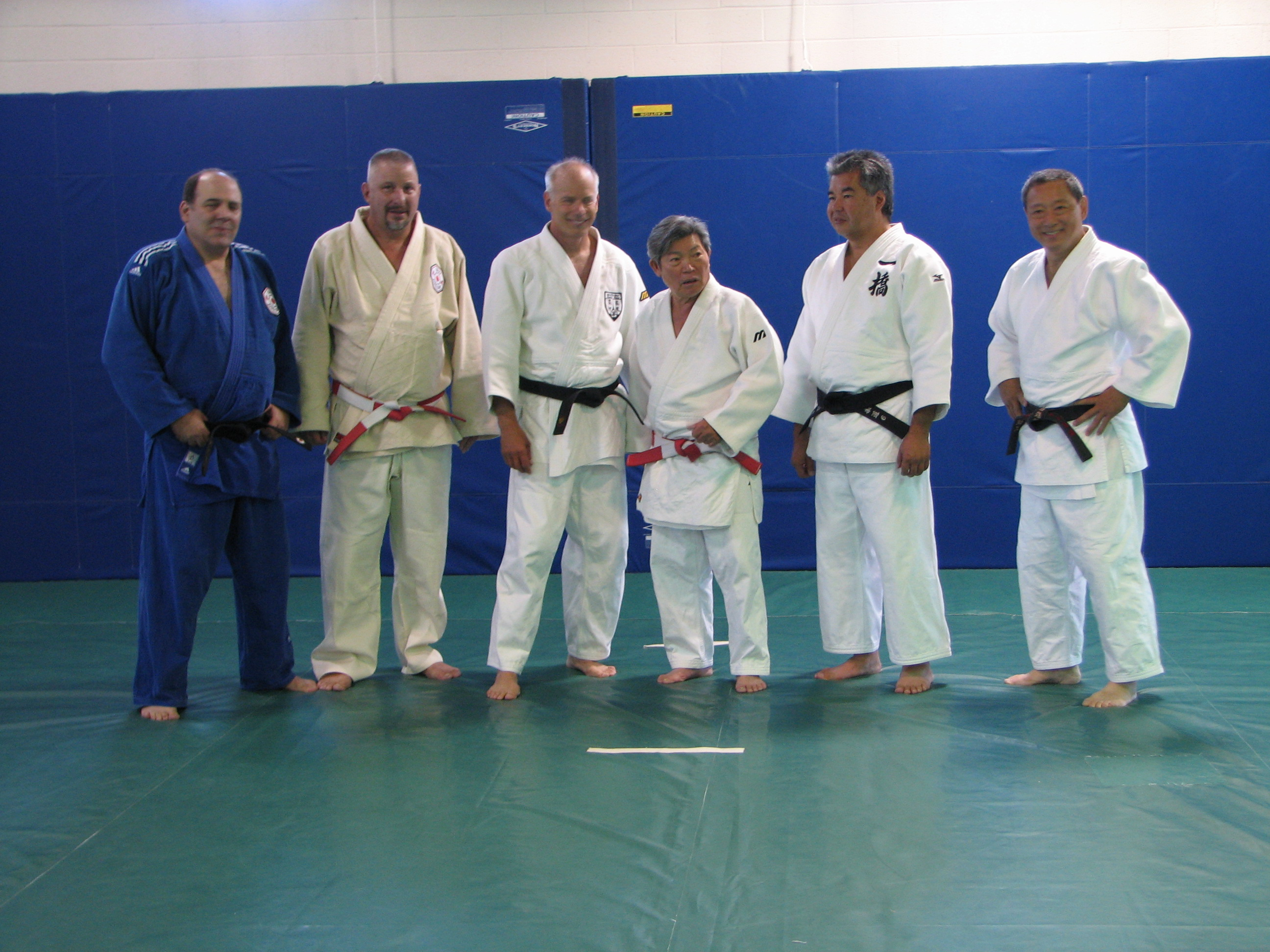 High dans attending the clinic -- Gary Goltz, Terry Kelly, Neil Ohlenkamp, Jin Iizumi, Paul Nogaki, Kenji Osugi